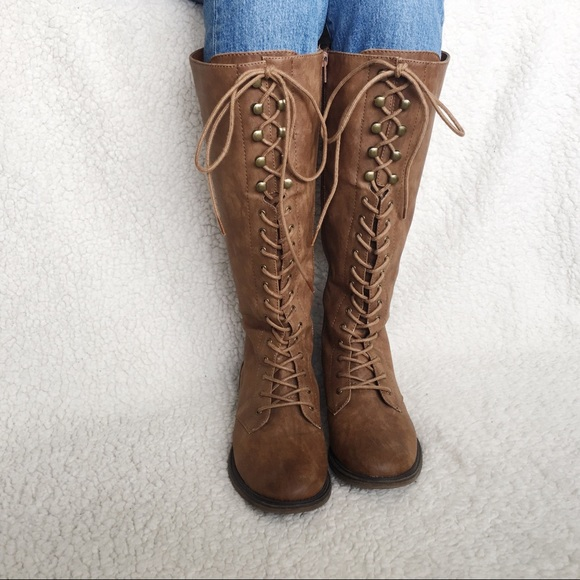 d32954bb4cd94 Massimo for Target Shoes | Tall Lace Up Boot | Poshmark